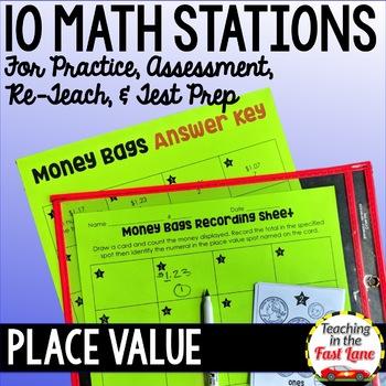 Place Value Test Prep Math Stations