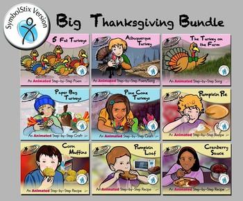 Big Thanksgiving Bundle - Animated Step-by-Steps - SymbolStix