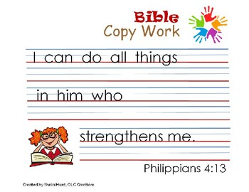 Big Thoughts for Little Hands Bible Copy Work