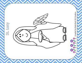 Saints Trace and Copy, with 14 Coloring Pages