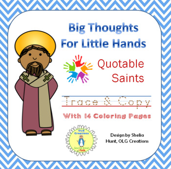 Big Thoughts for Little Hands Saints Trace and Copy, with