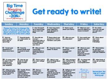 Big Time Blogging Challenge