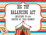 Big Top Balancing Act (equivalent equations up to 20)