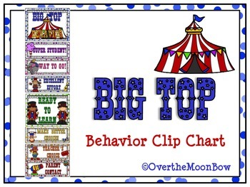 Big Top Behavior Clip Chart – Circus Theme