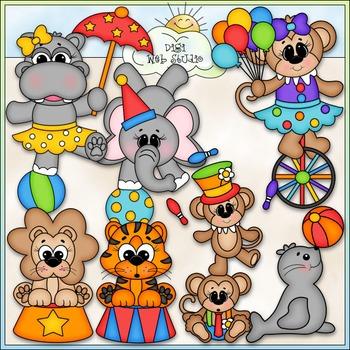 Big Top Circus Animals Clip Art - Circus Clip Art - CU Clip Art & B&W