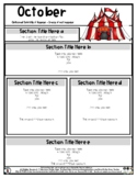 Big Top / Circus - Editable Newsletter Template - #60CentF