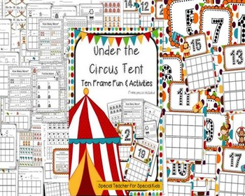 Big Top Circus Ten Frame Fun and Printables