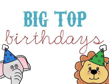 Big Top (Circus-Themed) Birthday Wall Decor