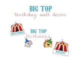 Big Top (Circus-Themed) Birthday Wall Decor