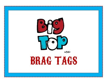 Big Top (Circus-Themed) Brag Tags