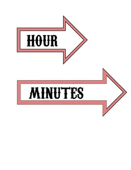 Big Top (Circus-Themed) Clock Labels