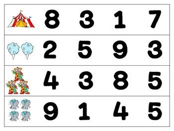 Big Top Math Activities
