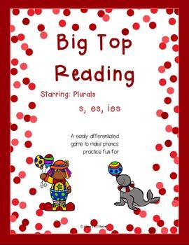Big Top Reading Starring Plurals s, es, ies