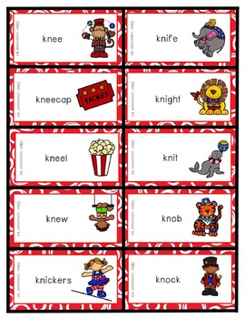 Big Top Reading Starring Silent Letters kn wr gn mb