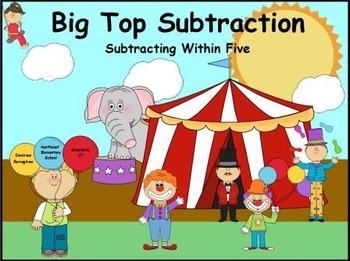 Big Top Subtraction: An Activeboard Math Center (K.OA.5)