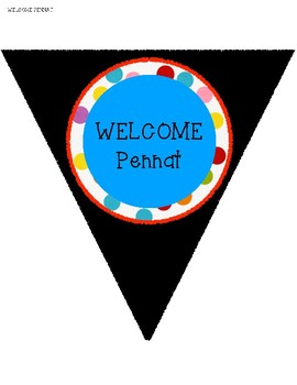 Big Top WELCOME Pennat Flags