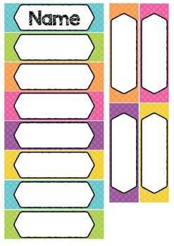 Big Tray Labels | White Fill