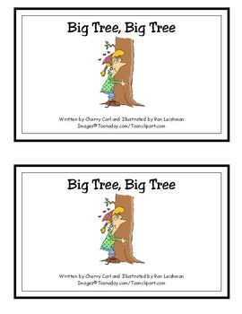 Big Tree, Big Tree Reproducible Guided Reader