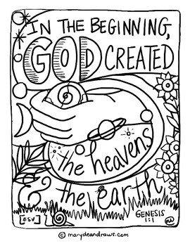 Coloring Page - DVD #2 - Whats in the Bible | 350x270