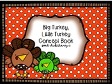 Big Turkey, Little Turkey Concept Book for Speech Therapy