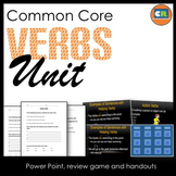 Verbs Unit - Parts of Speech Unit (Verb PowerPoint, handouts, review game)