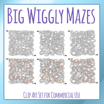 Big Wiggly Maze Clip Art Set for Commercial Use