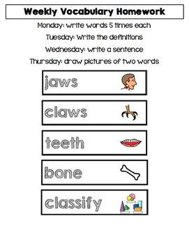 Big Word Club grades 1-2 Homework
