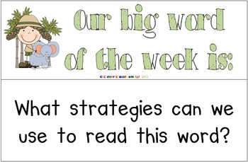 Big Word of the Week Set 2 - Reading Strategy Approach - 16 pages