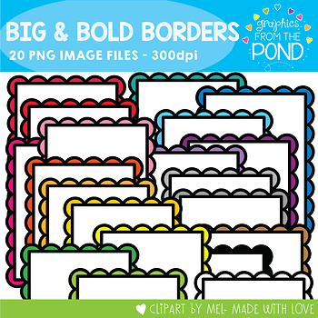 Big and Bold Borders - Graphics From the Pond