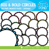 Big and Bold Circle Borders - Graphics From the Pond
