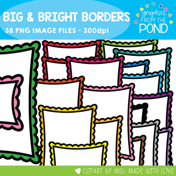 Big and Bright Borders - Graphics From the Pond