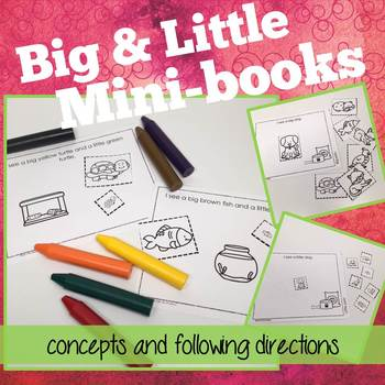 Big and Little Concepts and Following Directions Readers