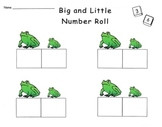 Big and Little Frogs Number Dice Game