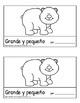 Big and Little/Grande y pequeño: Two books/workbooks/primers, sight words, ESL