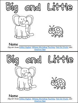 Big and Little- Nonfiction Leveled Reader- Level B Kindergarten