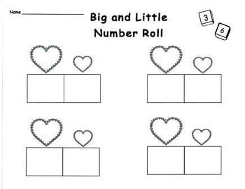 Big and Little Number Math Game Set