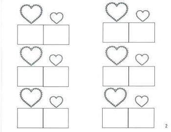 Big and Little Number Math Heart Game