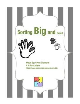 Big and Little Sort - Autism Spectrum Disorders