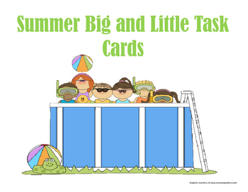 Big and Little Summer Task cards
