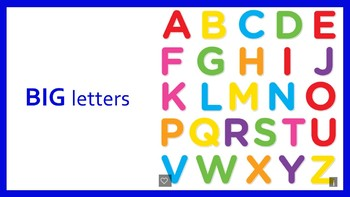 Big and Small Alphabet Letters