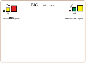 Big and Small:  Morning Bell Work, Worksheets