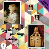 Big and Small Paintings Montessori Art Matching Cards