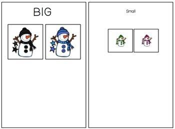 Big and Small Snowman Sort