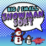 Big and Small Snowman File Folder Sort