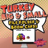Big and Small Turkey Sort File Folder Activity