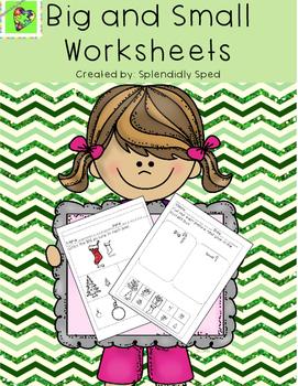 Big and Small Worksheets--Christmas Themed