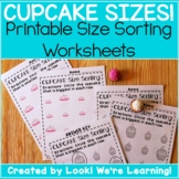 Big and Small Worksheets - Cupcake Sizes!