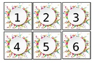Big confetti number cards