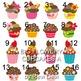 Cupcakes clip art - Teacher Resource