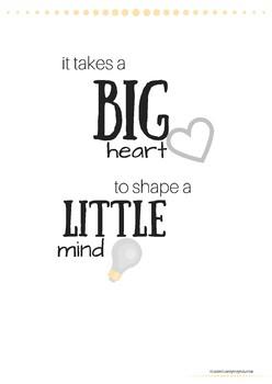Big heart poster